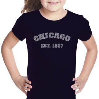 Los Angeles Pop Art Girls' Chicago 1837 Multicolor Cotton T-shirt