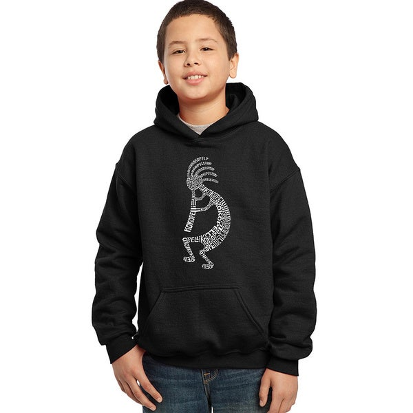 Los Angeles Pop Art Boys' Kokopelli Blue/Red/Black Cotton/Polyester Hooded Sweatshirt