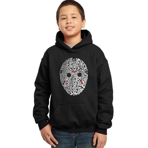 Los Angeles Pop Art Boys' Slasher Movie Villians Blue/Red/Black Cotton/Polyester Hooded Sweatshirt