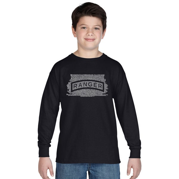 Los Angeles Pop Art Boys' 'The U.S. Ranger Creed' Long-sleeve T-shirt