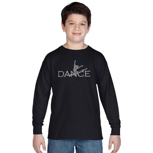 Los Angeles Pop Art Boys' Dancer Multicolor Cotton Long Sleeve T-shirt