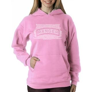 Los Angeles Pop Art Women's 'The U.S. Ranger Creed' Polyester Hooded Sweatshirt