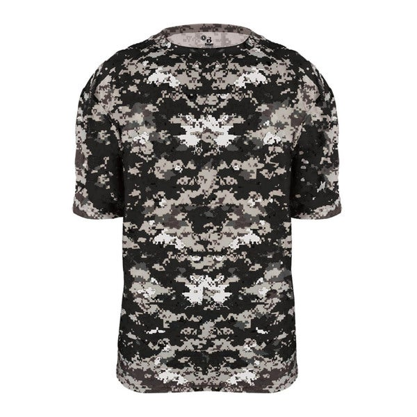 Digital Youth Black Polyester Camo T-shirt