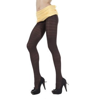 Pierre Cardin Aimee Stretchy Houndstooth Pattern Pantyhose