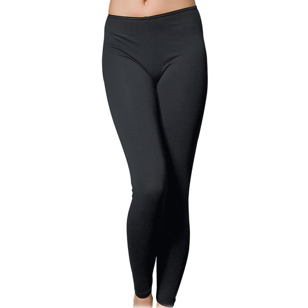 Miorre Women's Black Cotton/Spandex Super Soft Seamless Basic Leggings