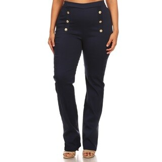 Hadari Plus size flare high waist pants