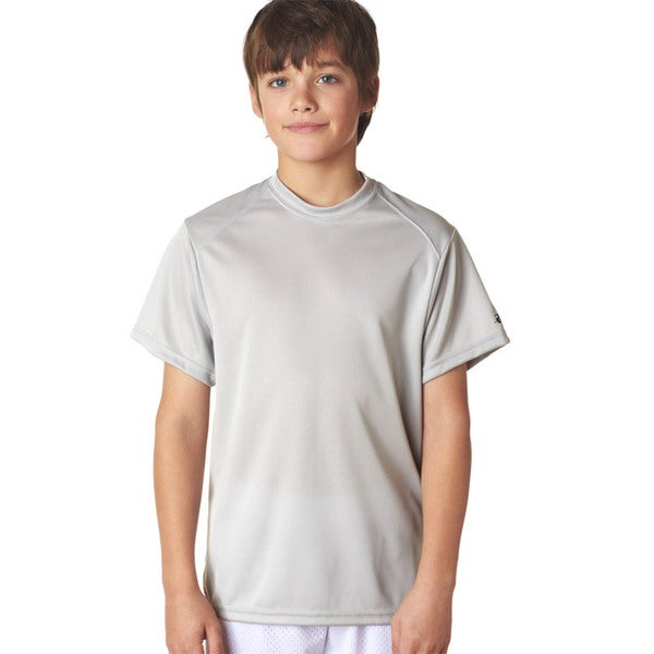 B-Core Youth Grey Polyester Performance T-shirt