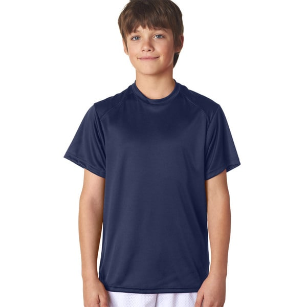 B-Core Youth Performance Navy T-shirt