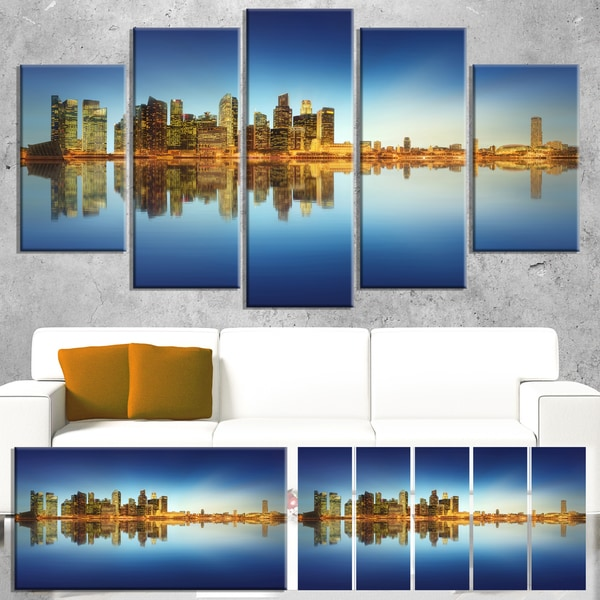 Calm Singapore Skyline - Cityscape Photography Canvas Print