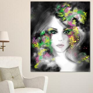 Fantasy Portrait Woman - Portrait Digital Art Canvas Print