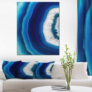 Blue Agate Crystal - Abstract Digital Art Canvas Print