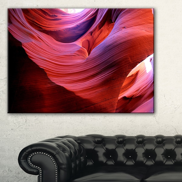 Antelope Canyon Light Rays - Landscape Photo Canvas Print 19452420