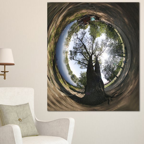 Ufa Little Planet Panorama - Tree Photography Canvas Print