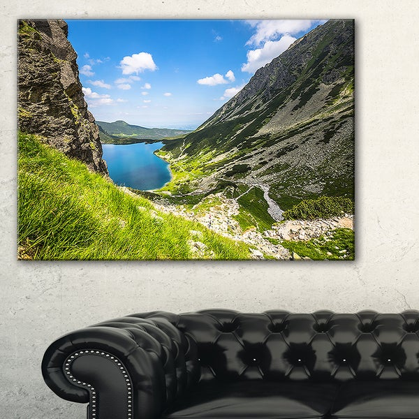 Black Pond Gasienicowy - Landscape Photo Canvas Art Print