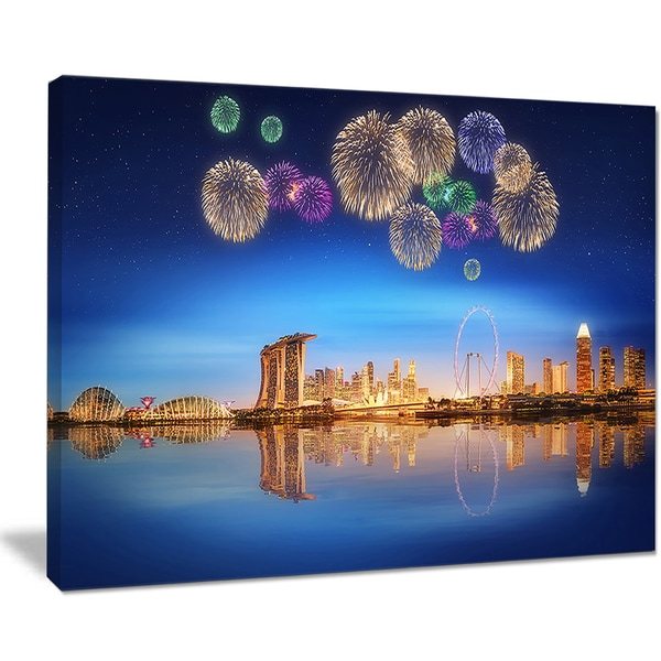 Singapore Skyline - Cityscape Photography Canvas Art Print
