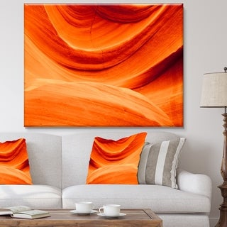 Antelope Canyon Orange Wall - Landscape Photo Canvas Print