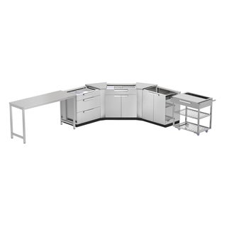 NewAge Products 210-inch x 24-inch 7-piece Outdoor Kitchen