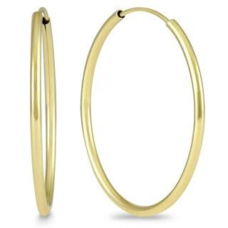 Marquee Jewels 14k Yellow Gold 25-millimeter Hoop Earrings