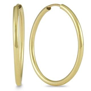 Marquee Jewels 14k Yellow Gold 21-millimeter Hoop Earrings
