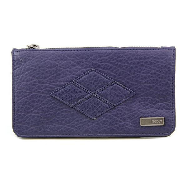 Roxy Women's Atoll Blue Faux Leather Wristlet Handbag