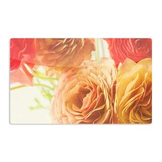 KESS InHouse Debbra Obertanec 'Springtime Ranunculus' Orange Floral Artistic Aluminum Magnet