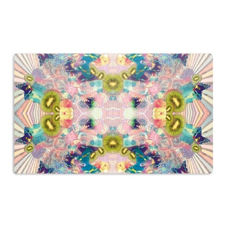 KESS InHouse Danii Pollehn 'LSD' Pink Green Artistic Aluminum Magnet