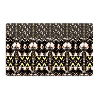 KESS InHouse Dawid Roc 'The Palace Walls' Brown Black Artistic Aluminum Magnet
