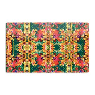 KESS InHouse Dawid Roc 'Tropical Floral' Orange Pink Artistic Aluminum Magnet
