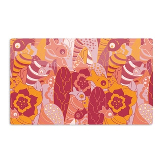 KESS InHouse Akwaflorell 'Fishes Here, Fishes There III' Pink Orange Artistic Aluminum Magnet