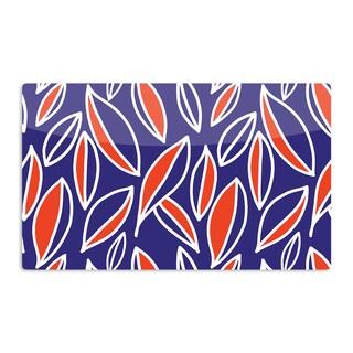 KESS InHouse Emine Ortega 'Leaving Orange' Artistic Aluminum Magnet