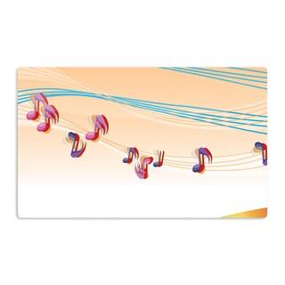 KESS InHouse Fotios Pavlopoulos 'Nature Music' Orange White Artistic Aluminum Magnet