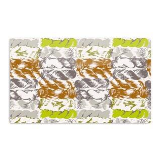 KESS InHouse Fernanda Sternieri 'Nice Knot' Gray Orange Artistic Aluminum Magnet