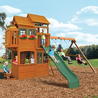 Big Backyard Somerset Lodge Wooden Play Set