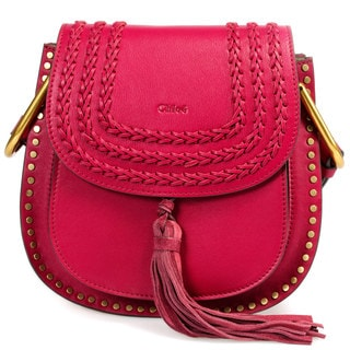 Chloe Hudson Calfskin Shoulder Bag in Sienna Red w/ Gold Hardware Size Small
