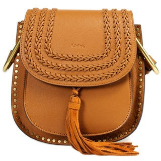 Chloe Hudson Calfskin Shoulder Bag Caramel w/ Gold Hardware Size Small