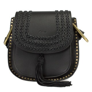 Chloe Hudson Calfskin Shoulder Bag in Black w/ Gold Hardware Size Small