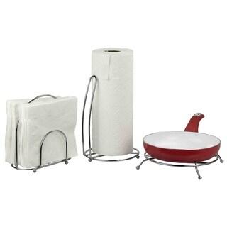 Home Basics Chrome-plated Steel 3-piece Pantryware Set