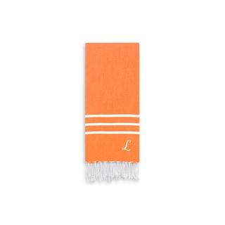Authentic Ella Dark Orange Monogrammed Pestemal Fouta Turkish Cotton Hand/Kitchen Towel