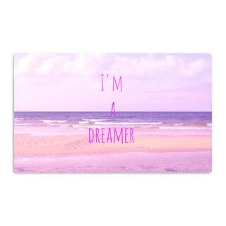 KESS InHouse Iris Lehnhardt 'I'm a Dreamer' Beach Pink Artistic Aluminum Magnet