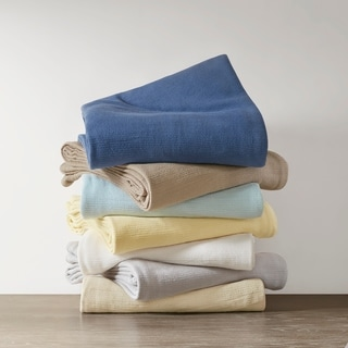 Premier Comfort Freshspun Basketweave Cotton Blanket 8-Color Option