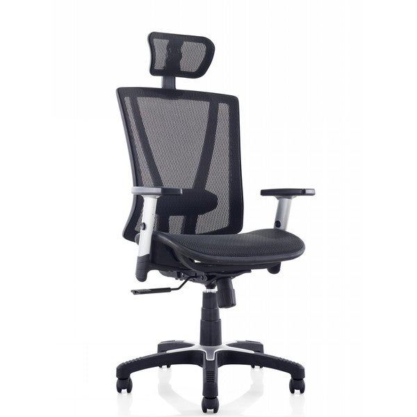 Ergomax Black Fully Meshed Ergo Office Chair With Headrest 19459154