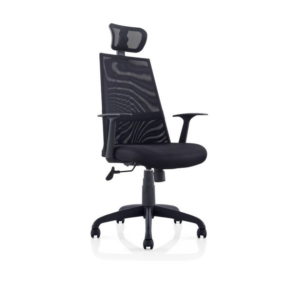 Ergomax Black Meshed Ergo Office Chair With Headrest 19459162
