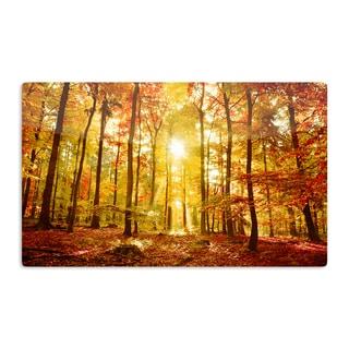 KESS InHouse Iris Lehnhardt 'Sun Flooded' Yellow Orange Artistic Aluminum Magnet