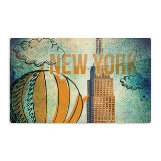 KESS InHouse iRuz33 'New York' Artistic Aluminum Magnet