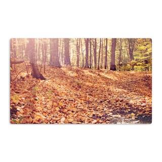 KESS InHouse Jillian Audrey 'Autumn Hike' Orange Brown Artistic Aluminum Magnet