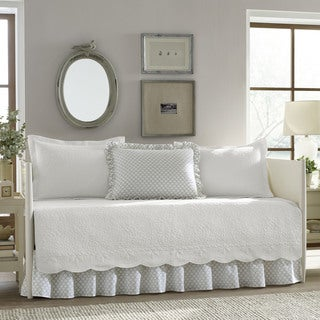 Stone Cottage Trellis White 5-Piece Daybed Cover Set