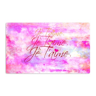KESS InHouse Ebi Emporium 'Je T'aime II' Abstract Pink Artistic Aluminum Magnet