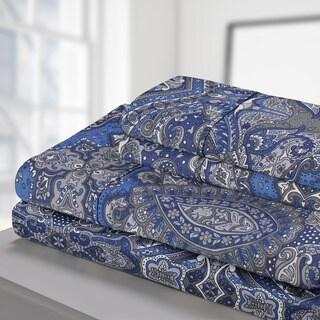 Superior 300 Thread Count Cotton Alderwood Sheet Set Navy Blue