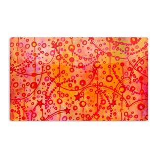 KESS InHouse Ebi Emporium 'Make A Wish' Orange Red Artistic Aluminum Magnet