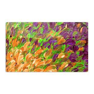 KESS InHouse Ebi Emporium 'Follow the Current III' Orange Green Artistic Aluminum Magnet